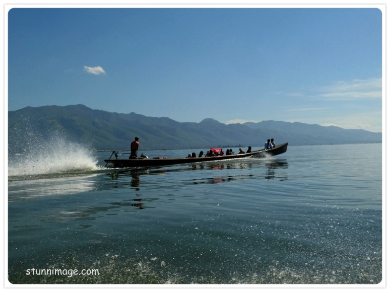 long tail boat on Inle lake